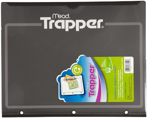 Trapper Plastic Folder with Customizable Cover, Black (33220)