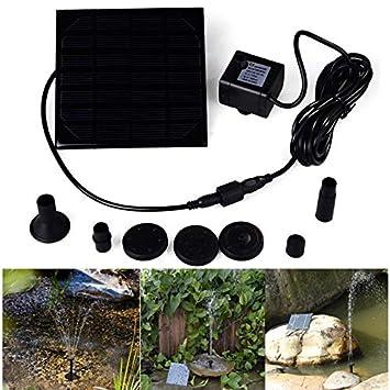 MJLXY 1.2W Bomba de Agua Solar, Equipo de Paneles de Bomba de Agua de