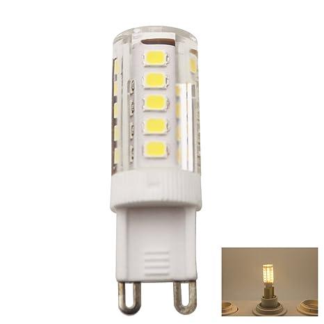 1 Piezas G9 LED de color blanco cálido bombillas, 33 SMD 2835 LED ahorro de