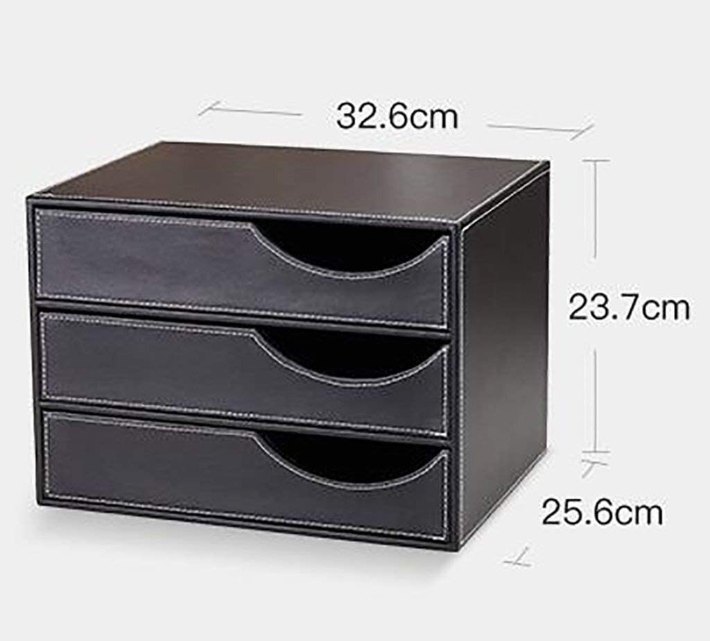 MDF File cabinet File Cabinet Strong Collision Resistance Different Color Standard Desks Great Value Entry Level Leather Color : Brown Office Supplies 32.6X26.5X23.7CM