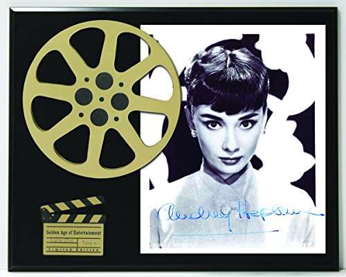 "Audrey Hepburn Limited Edition Reproduction Autographed Movie Reel Display ""K1"""