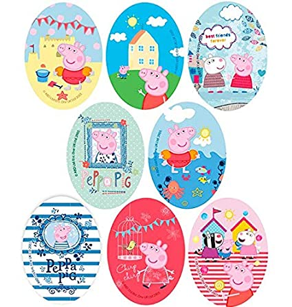 Amazon Com 8 Patches Peppa Pig And Friends Screen Printed Ironing