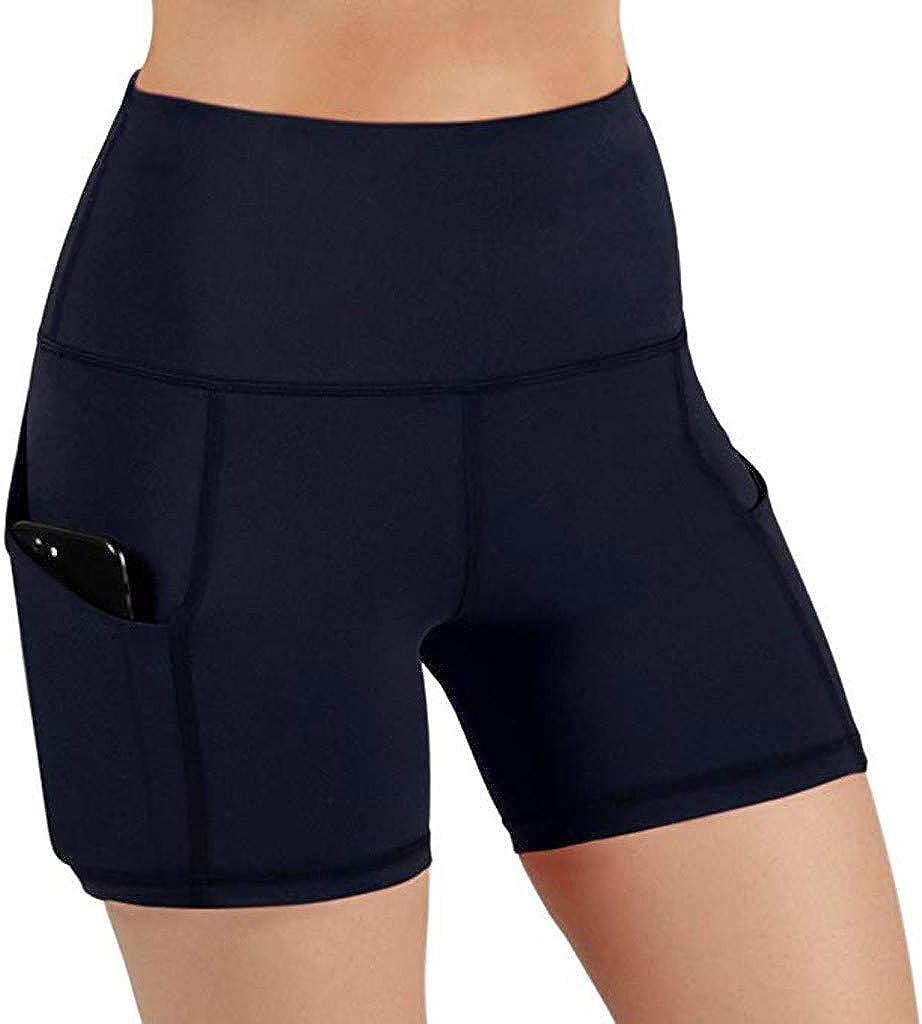 Aribelly Cotton Blend Active Running Bike Leggings-Athletic Exercise Yoga Walking Shorts with Pocket