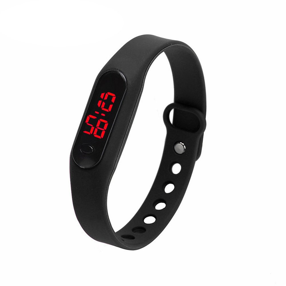 Amazon.com: Goodfeng Unisex Bracelet Watch Casual Sports Digital Watch Silicone Mini Table LED Bracelet Watch (Black): Cell Phones & Accessories