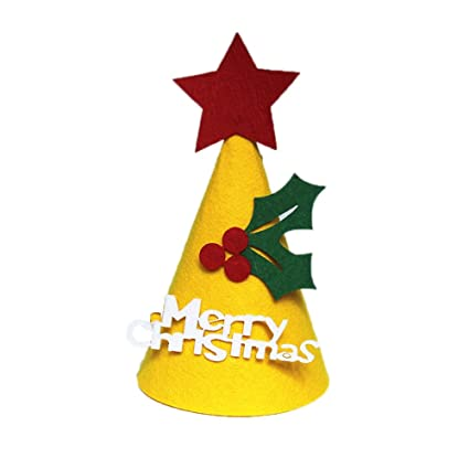 amazon com akwell diy christmas santa hat caps decoration festival
