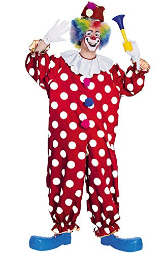 Rubie's Haunted House Collection Dotted Clown Costume, Red, One Size