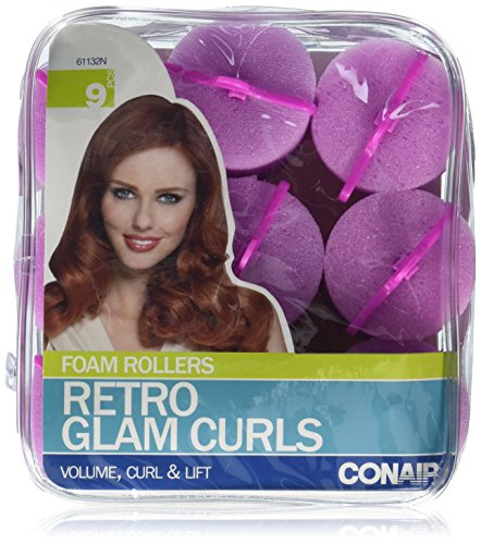 Rollers Large Foam (Conair Big Curl Foam Rollers, 9 Count)