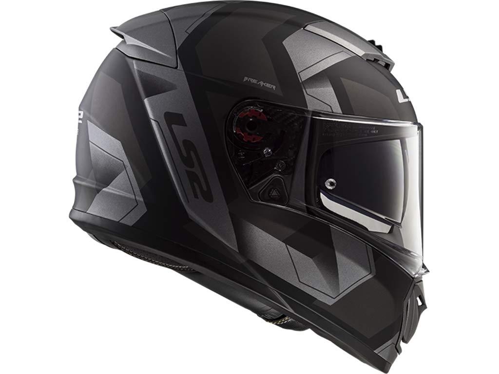 LS2 FF390 Breaker Physics Helm Schwarz//Titan XXXL 64//65