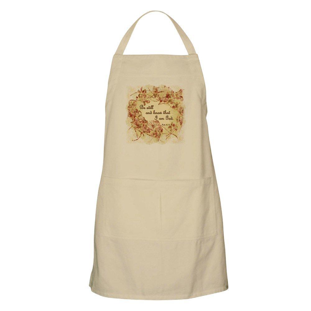 CafePress – Psalm 46 : Be Stillエプロン – キッチンエプロンポケット付き、グリルエプロン、Bakingエプロン ベージュ 057059219640D7A  カーキ B073X4YX8W