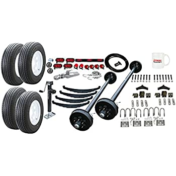 Amazon.com: Flatdeck Trailer Parts Kit - 10,400 lb - Tandem Brake ...