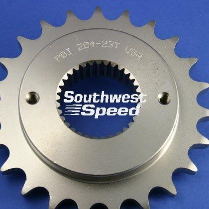 530 Conversion Sprockets (NEW SOUTHWEST SPEED 24 TOOTH NO OFFSET FRONT COUNTERSHAFT HARLEY MOTORCYCLE SPROCKET FOR 530 CHAINS, 33 SPLINE, 1986-2006 HARLEY DAVIDSON BIG TWIN 5 SPEED BIKES)