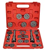 K&A Company Universal Caliper Kit Case Wind Back Disc Brake Pad Piston Compressor Tool 22pc With Carrying Case