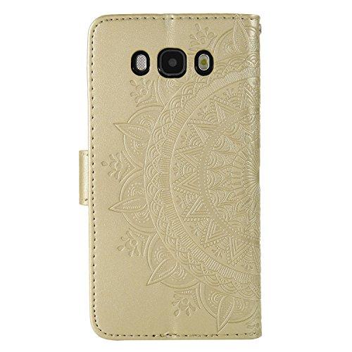 de Galaxy Samsung Samsung Portefeuille Folio pour Or Magnétique 2016 Fermeture Galaxy Galaxy Coque Coque Cuir Samsung en J7 J7 de Protection 2016 Protection J7 Coque Etui 2016 Housse Cuir Herbests Housse 8UOqxw7