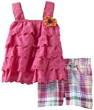 Young Hearts Girls 2-6X 2 Piece Top And Short, Pink, 3T image