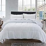COSYBAY Down Alternative Comforter- White Corner Duvet Tabs- Hypoallergenic & Lighweight -All Season Duvet Insert-Stand Alone Comforter - Cal- King Size(104×96 Inch)