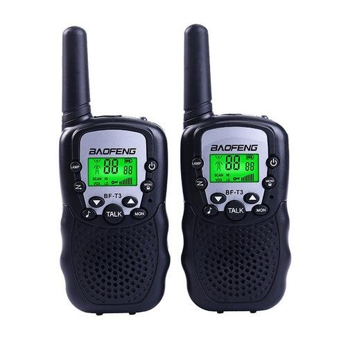 YUMUN BaoFeng BF-T3 Handheld Walkie Talkies for Kids Two-Way Radio Transceiver 2 Piece Pack 22 Channels 3KM Call Range Distance