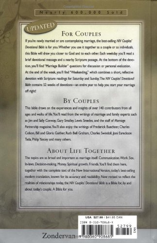 Couples' Devotional Bible for Engaged and Newly Married Couples ...