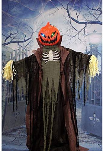 Haunted Hill Farm HHPUMP-4FLS Life-Size Animatronic Scarecrow