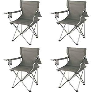 Amazon.com: OZARK Trail - Juego de 4 sillas regulares (gris ...