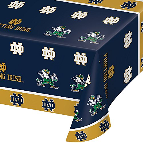 2-ct University of Notre Dame Fighting Irish Premium Plastic Table Covers College Football Party -