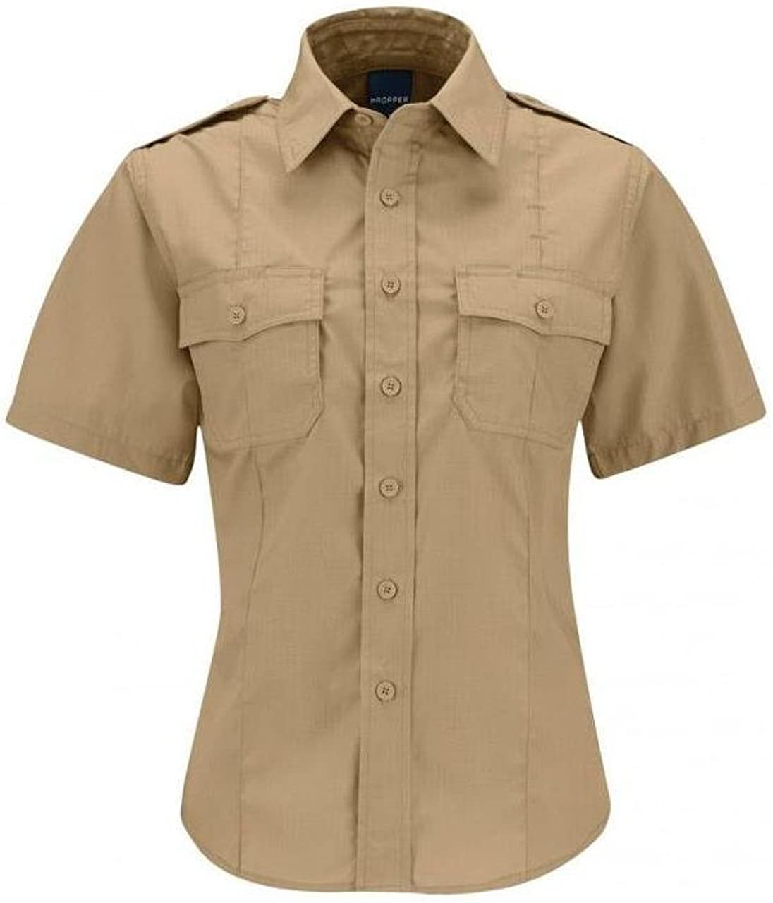 Propper Womens SS Class B Womens Cargo Cotton Polyester Ripstop Uniform Tactical Shirt F5337 Short Sleeve