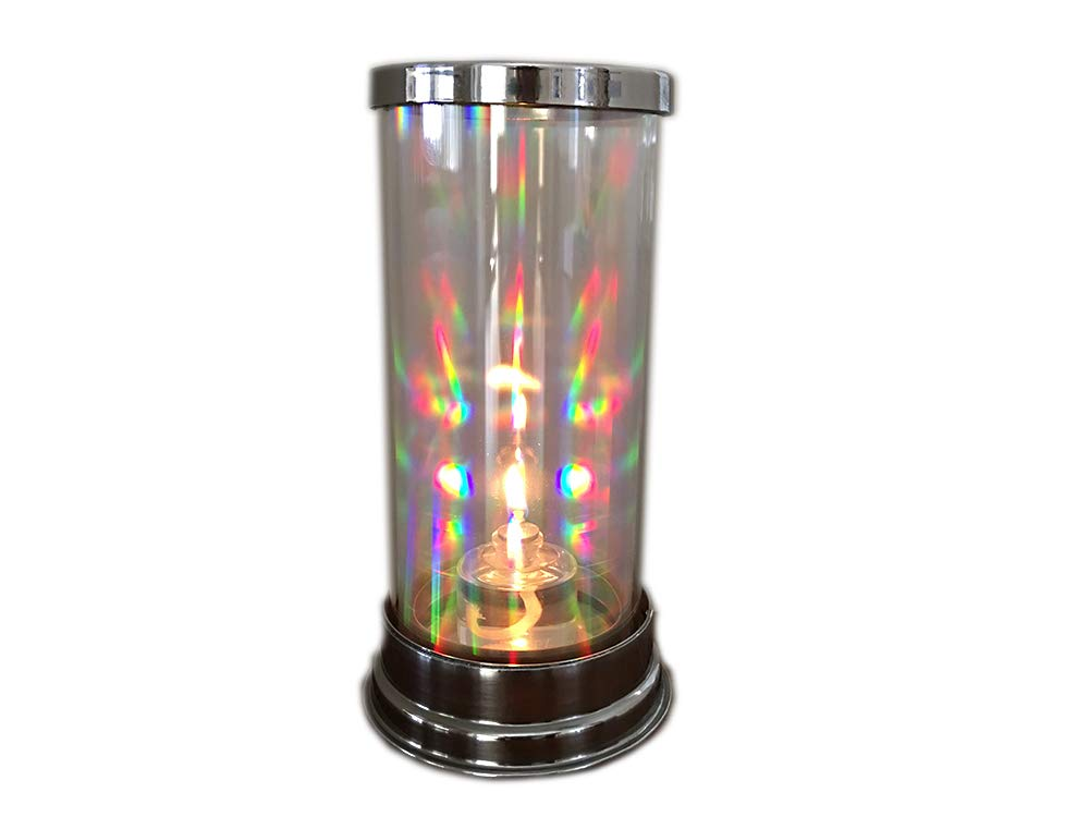 Firefly Crystal Prism Lantern with 1/2-Ounce Refillable Glass Tealight Candle