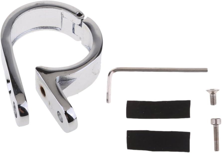 Almencla Chrom Motorrad Lenkerhalterung Clamp Bracket Clock 32mm F/ür