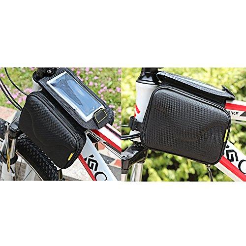 Eastlion Stoß- Berg Fahrrad-Beutel-Frontrahmen Pannier Beutel-Schlauch 5,7-Zoll-Handy-Tasche