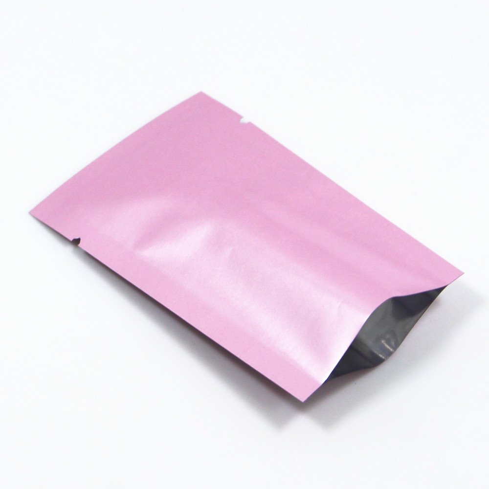 5x8cm Open Top Aluminum Bags Heat Seal Vacuum Mylar Foil Packaging Pouch For Powder Coffee Pack Packing Bag With Tear Notch 500 Pcs