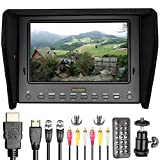 Neewer NW-700S 7 inches HD Field Monitor with Remote Control HDMI Input/Output Signals IPS Screen 1280x800 Resolution for Canon Nikon Sony Panasonic DSLR Cameras and Camcorders (Battery not included)