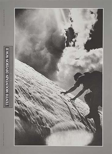 Vintage Ski World Ice Climbing 10th Mountain Division Poster Size 16 x 22 inches