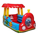 Big Ol'' Fisher Price Train Ball Pit Inflatable Kiddie Set with 25 Play Balls