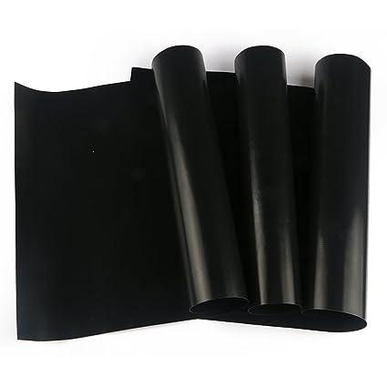 nouvelife Juego de 3 hoja de horno reutilizable 40 x 33 cm alfombra de horno barbacoa