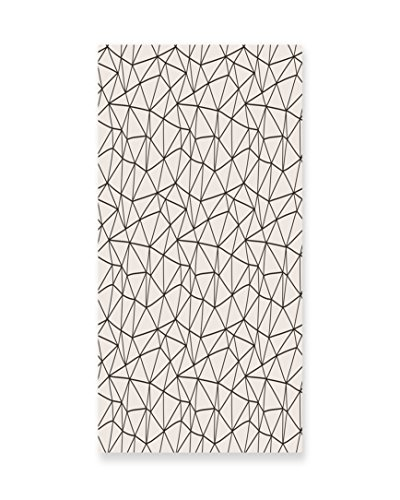 Lunarable Geometric Wall Art, Connected Polygonal Lines Pattern