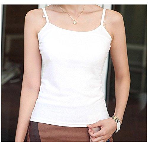 ECYC® Plus Size L-XXXL 4XL 5XL 6XL Mujeres Sin Mangas Loose Modal T-Shirt Summer Tank Tops A10: Blanco