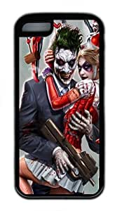 New Year gift iPhone 5C Case, iPhone 5C Cases -Joker and Harley Quinn TPU Rubber Soft Case Back Cover for iPhone 5C Black
