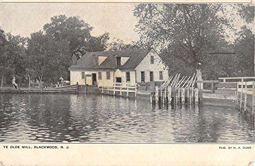 Blackwood New Jersey Ye Olde Mill Waterfront Antique Postcard K39526