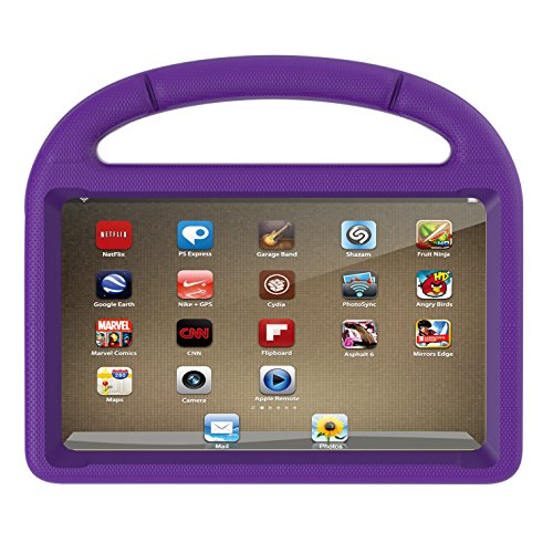 Amazon Kindle Fire 7 Case (2017 7th Generation), Huaup Light Weight Shock Proof Handle Friendly Convertible Stand Kids Case for Fire 7 Tablet (2017 Release Only) (Kindle Fire 7 Case, Purple) ()