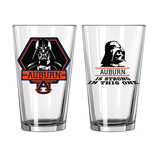 Auburn Tigers Cups - NCAA Auburn Tigers Star Wars Pint Glass, 16-ounce, 2-Pack
