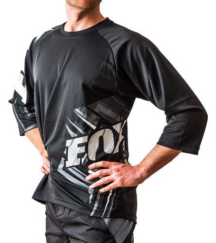 FOX Men's Stria Ride 3/4 Sleeve Jersey XL Black