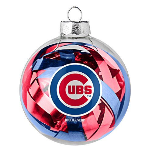 (MLB Chicago Cubs Large Tinsel Ball Ornament)