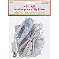 Darice – Plantilla para grabar en relieve 6402 Accessory Cord con 1 luces, 1,8 m, color blanco