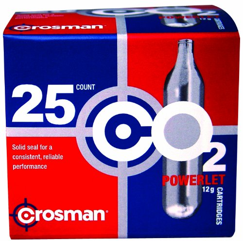 Crosman 12 Gram CO2 Cartridges (Pack of (Co2 Powered Pellet Gun)