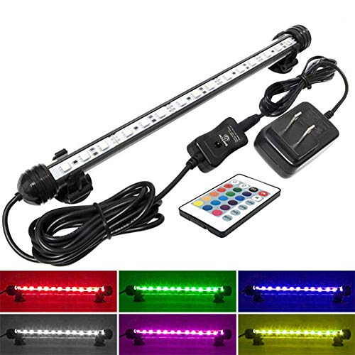 MingDak LED Aquarium Light for Fish Tanks,12 LEDs,11-inch,RGB Color