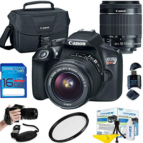 Canon EOS Rebel T6 DSLR Camera w/EF-S 18-55mm f/3.5-5.6 is II Lens - Deal-Expo Essential Accessories Bundle