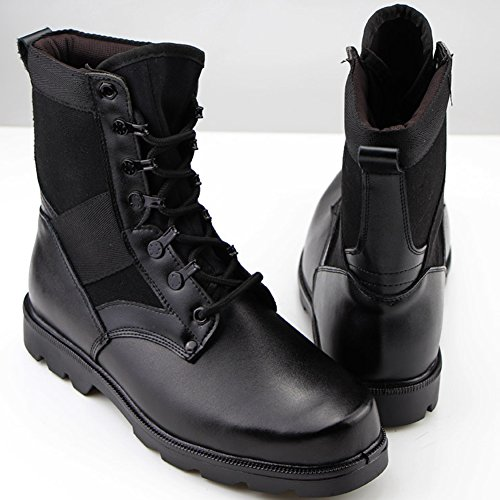 Aiyuda Men's Military Combat Work Boots Steel Toes Waterproof Leather Jungle Duty Winter Ankle Boot Black