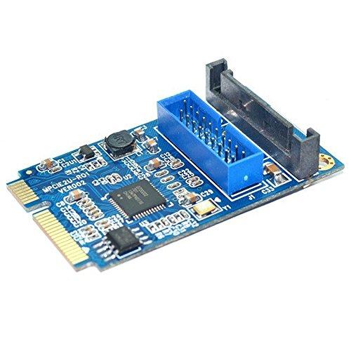 19-Pin USB 3.0 Header Mini PCI-Express Card with Female USB 3.0 - Header Card