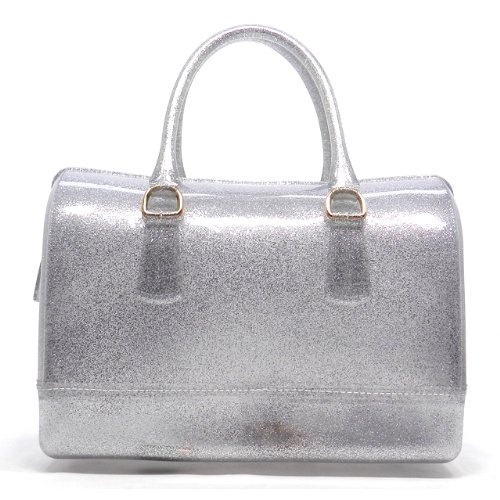 160024 MyLUX Connection Close-Out Studded & Candy Bag Satchel (candy silver)