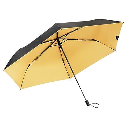 Zxzxzl Sombrilla Paraguas Negro Pequeño Bajo El Paraguas Paraguas Mini Sombrilla Paraguas Plástico Negro Anti-