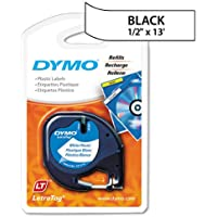Genuine DYMO Black on White Polyester LetraTAG Tape Label for Dymo LetraTag QX50 Label Maker